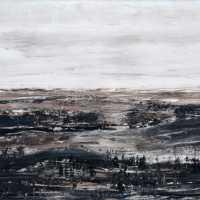Braune Landschaft