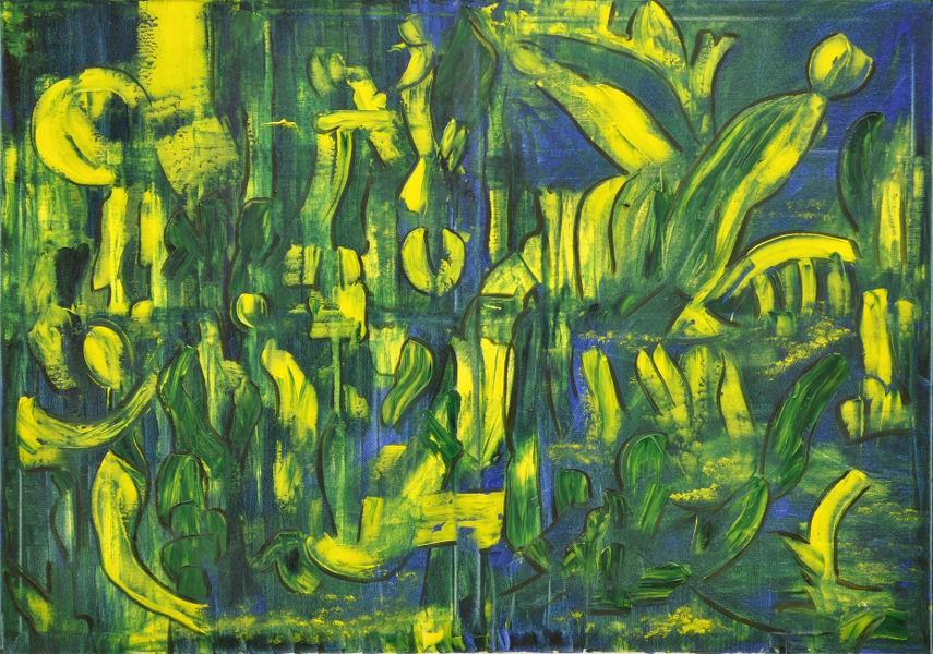 Gelb im Sumpf, Gemälde